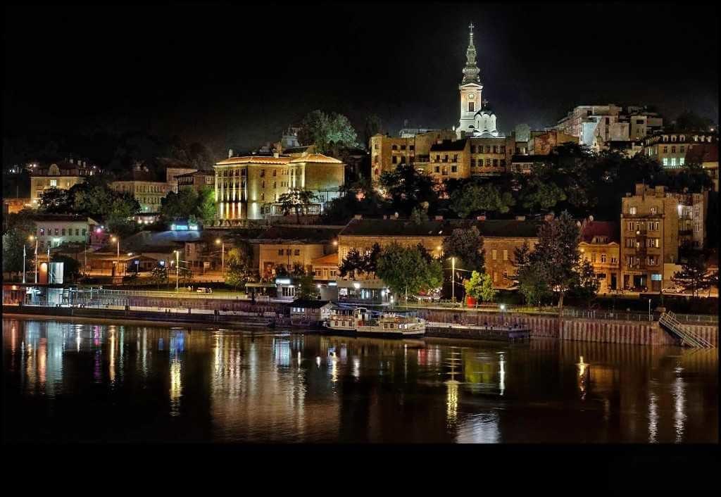 Beograd noću - reka