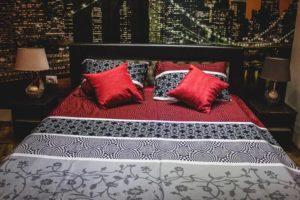 Izgled spavaće sobe u apartmanu Balkanska.