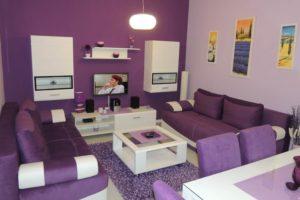 dnevna soba lila apartman