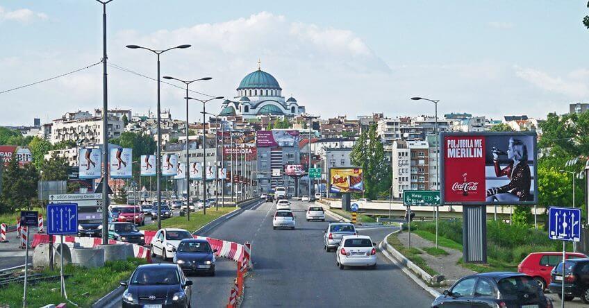 Saobraćaj na autkomandi u Beogradu